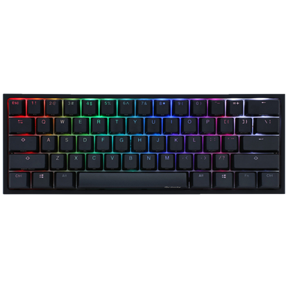 Image de Ducky Channel One 2 Mini RGB Noir Cherry MX RGB Silent Red US Layout
