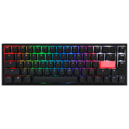 Image de Ducky Channel One 2 SF RGB Noir Cherry MX RGB Silent Red US Layout