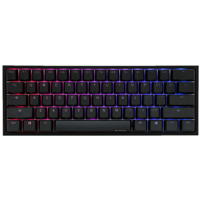 Image de Ducky Channel One 2 Mini RGB Noir Cherry MX Red US Layout