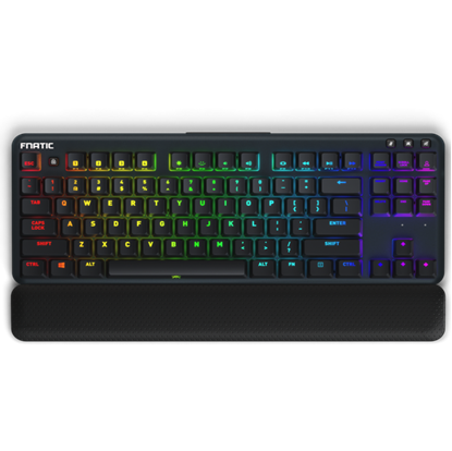 Image de Fnatic miniSTREAK Tenkeyless Mechanical Keyboard MX SILENT RGB RED FR Layout